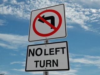 No_Left_Turn_Text