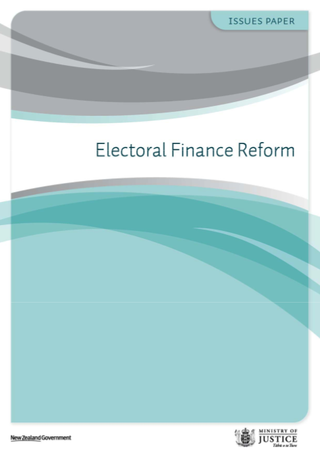 Ministry of Justice Electoral Finance Reform Issues Paper