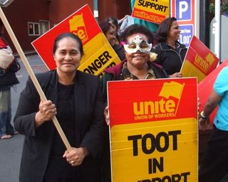 Unite workers