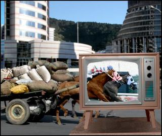 Horse race election from scoop.co.nz