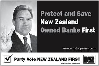 New Zealand First 2008 billboard