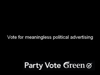 Election advertising green