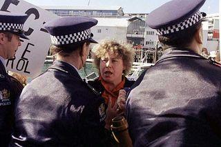 Sue Bradford protestor