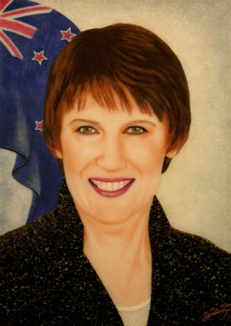 Helen Clark painting - Bryce Edwards