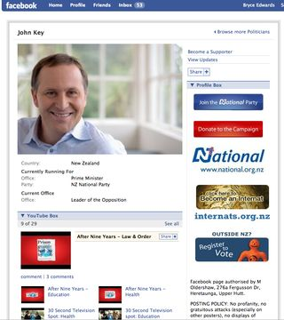 John Key Facebook - Bryce Edwards
