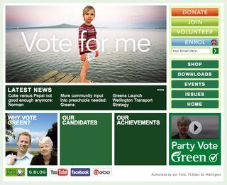 Greens website - Bryce Edwards