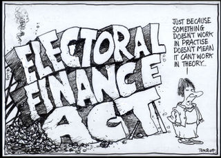 Clark Electoral Finance Act - Bryce Edwards