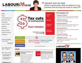 Labour website 2008 - Bryce Edwards