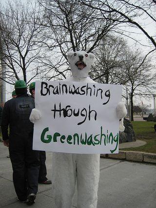 Greenwash green party - bryce edwards