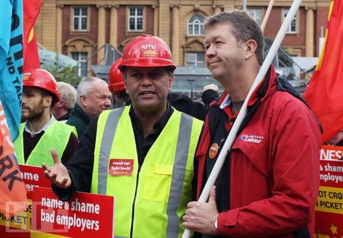 Workers Gather For 'Fairness At Work' Rally matt mccarten - bryce edwards