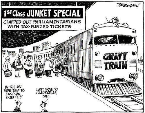 Image result for junket travel politician