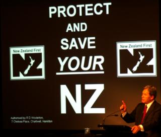 NZ First 2008 slogan - Bryce Edwards