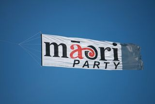 Maori Party banner - Bryce Edwards
