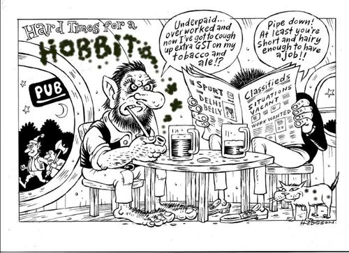 Hard times for a hobbit - Actors Equity Peter Jackson - Bryce Edwards