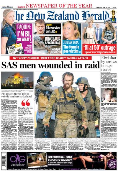 Herald frontpage Afghanistan NZ Politics Daily Bryce Edwards University of Otago liberation blog www.liberation.org.nz