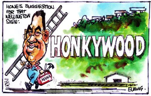 Hone Harawira honkywood NZ Politics Daily - Bryce Edwards Otago University liberation blog - www.liberation.org.nz