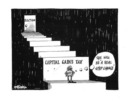 1 It will be 'a real step change' capital gains tax NZ Politics Daily Bryce Edwards University of Otago liberation blog www.liberation.org.nz