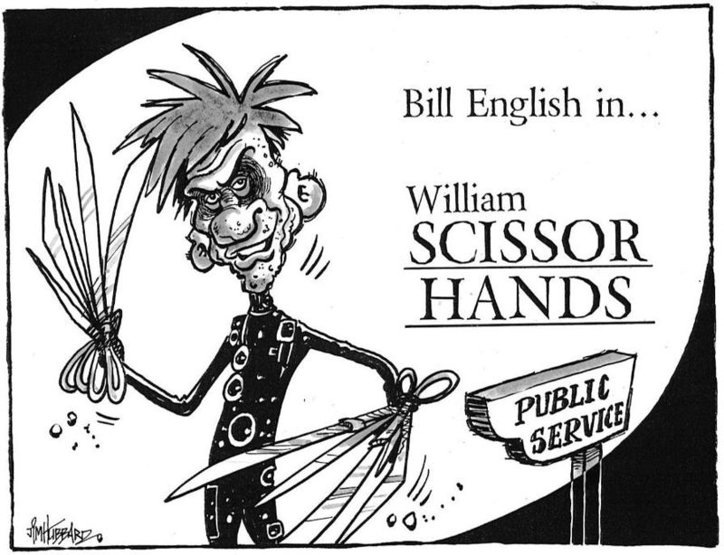 Bill English in ... William Scissor Hands. NZ Politics Daily - Bryce Edwards Otago University liberation blog - www.liberation.org.nz
