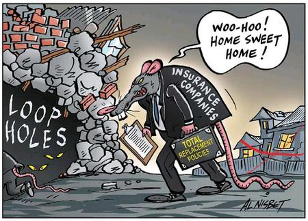 Christchruch earthquake insurance NZ Politics Daily - Bryce Edwards Otago University liberation blog - www.liberation.org.nz