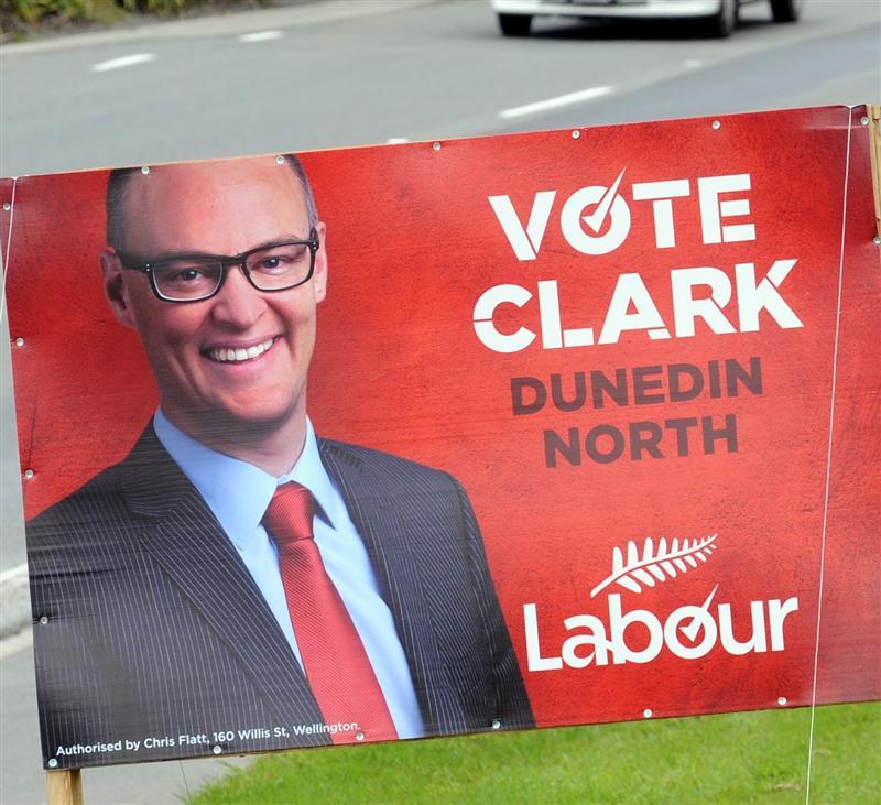 Labour Dunedin election billboard NZ Politics Daily - Bryce Edwards Otago University liberation blog - www.liberation.org.nz