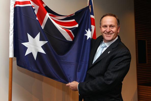 John Key Australian Flag NZ Politics Daily - Bryce Edwards Otago University liberation blog - www.liberation.org.nz