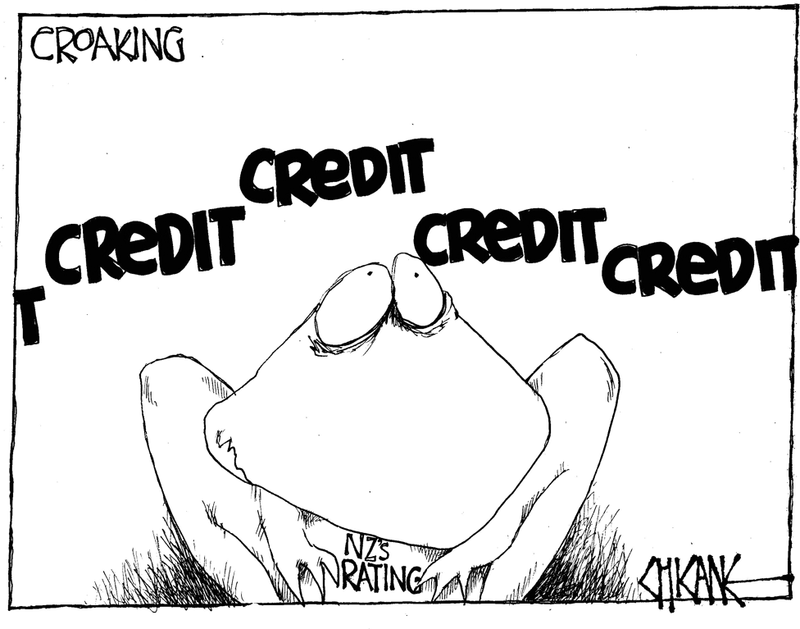 Credit rating downgrade NZ Politics Daily - Bryce Edwards Otago University liberation blog - www.liberation.org.nz