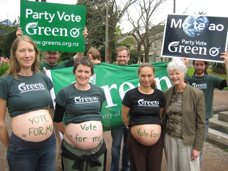 Greens campaign 2008 Niki Lomax NZ Politics Daily - Bryce Edwards Otago University liberation blog - www.liberation.org.nz