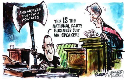 National Party anti-worker John Key NZ Politics Daily - Bryce Edwards Otago University liberation blog - www.liberation.org.nz