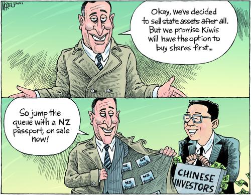 Asset sales NZ Politics Daily - Bryce Edwards Otago University liberation blog - www.liberation.org.nz