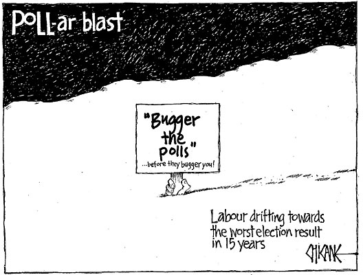 Bugger the polls opinion NZ Politics Daily - Bryce Edwards Otago University liberation blog - www.liberation.org.nz