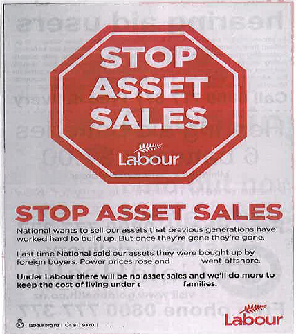 Labour ad election NZ Politics Daily - Bryce Edwards Otago University liberation blog - www.liberation.org.nz