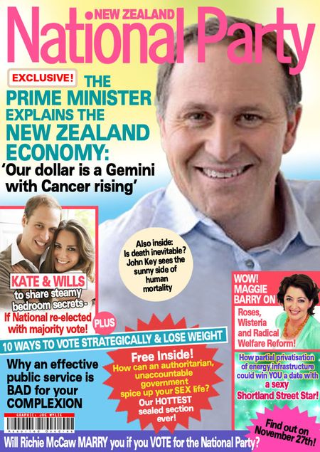 Dim-Post National Party John Key election magazine NZ Politics Daily - Bryce Edwards Otago University liberation blog - www.liberation.org.nz
