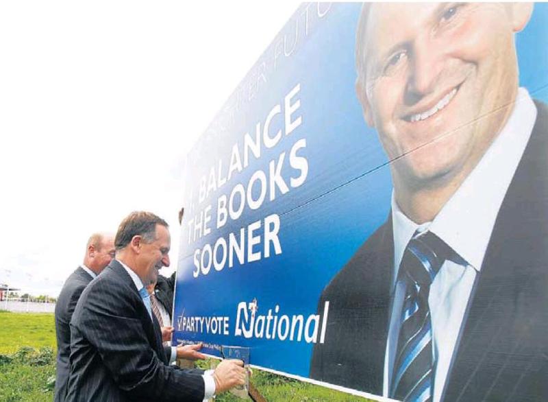 John key billboards NZ Politics Daily - Bryce Edwards Otago University liberation blog - www.liberation.org.nz