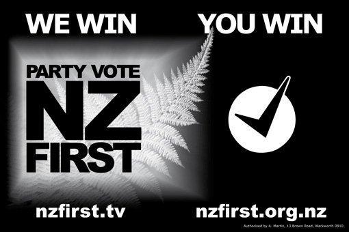 Nz first billboard NZ Politics Daily - Bryce Edwards Otago University liberation blog - www.liberation.org.nz