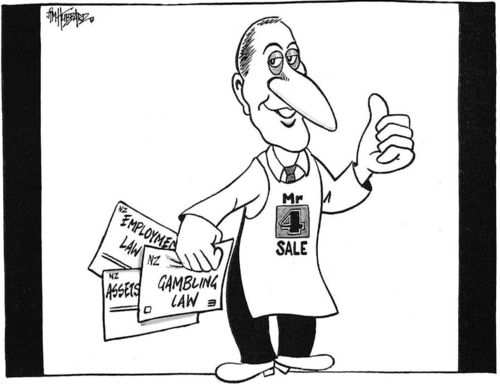 Mr 4 sale. NZ Politics Daily - Bryce Edwards Otago University liberation blog - www.liberation.org.nz