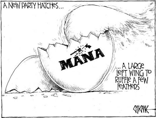 2 Mana Party Hone Harawira NZ Politics Daily - Bryce Edwards Otago University liberation blog - www.liberation.org.nz