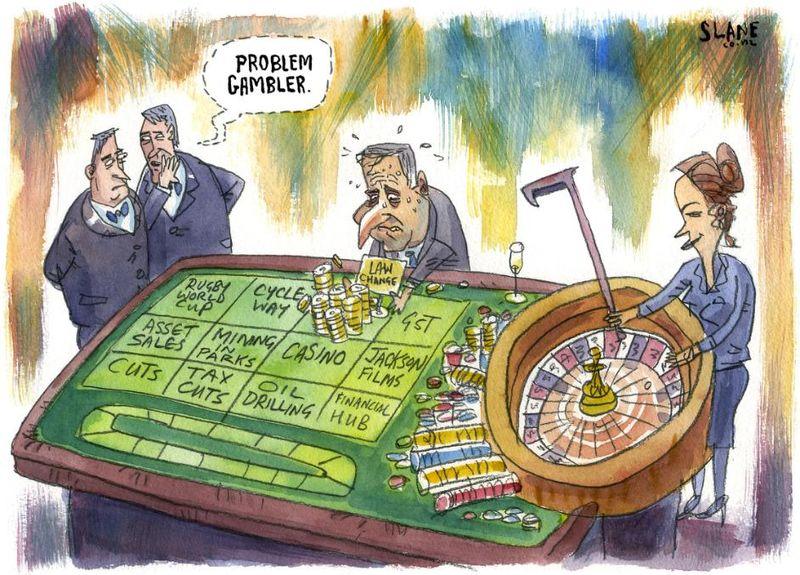 Problem gambler national economy NZ Politics Daily - Bryce Edwards Otago University liberation blog - www.liberation.org.nz