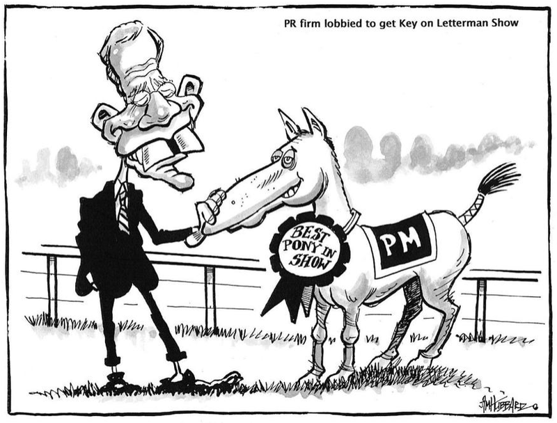 John Key on Letterman Show NZ Politics Daily - Bryce Edwards Otago University liberation blog - www.liberation.org.nz