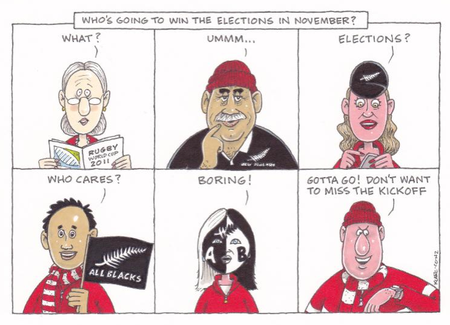 Voter apathy turnout NZ Politics Daily - Bryce Edwards Otago University liberation blog - www.liberation.org.nz