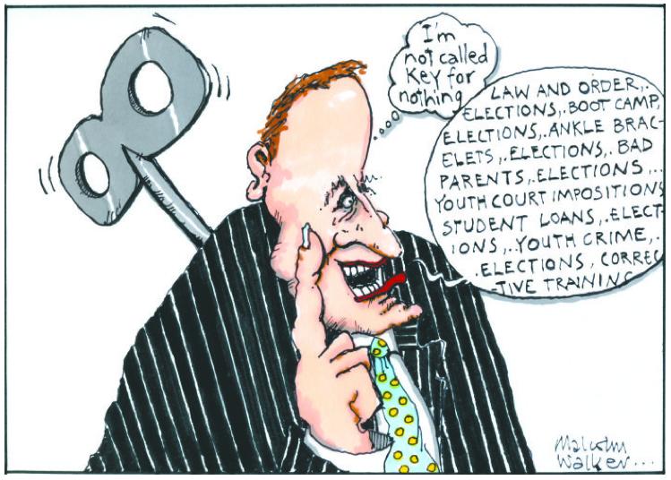 John Key national election NZ Politics Daily - Bryce Edwards Otago University liberation blog - www.liberation.org.nz