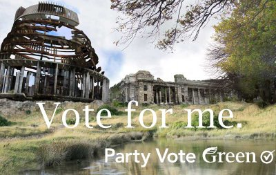 Vote for me green party NZ Politics Daily - Bryce Edwards Otago University liberation blog - www.liberation.org.nz