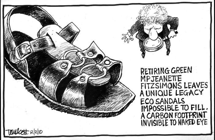 Roman sandals Greens Niki Lomax NZ Politics Daily - Bryce Edwards Otago University liberation blog - www.liberation.org.nz