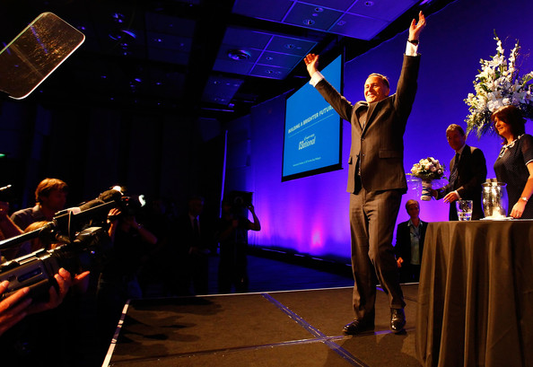 John Key National Party launch NZ Politics Daily - Bryce Edwards Otago University liberation blog - www.liberation.org.nz
