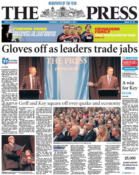 Leaders debate press NZ Politics Daily Bryce Edwards University of Otago liberation blog www.liberation.org.nz