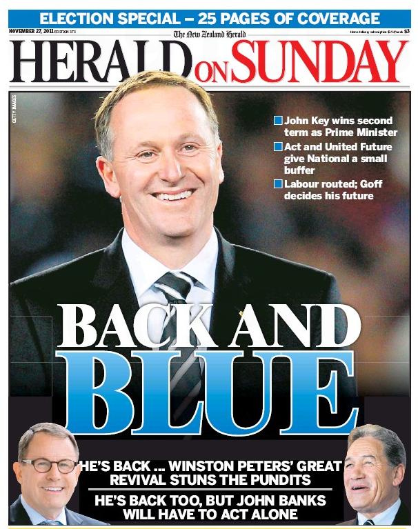1 HoS  2011 election campaign NZ Politics Daily - Bryce Edwards Otago University liberation blog - www.liberation.org.nz
