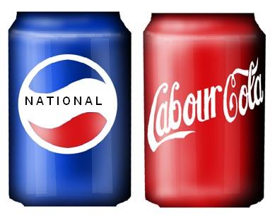 Coke pepsi labour national Greens Niki Lomax NZ Politics Daily - Bryce Edwards Otago University liberation blog - www.liberation.org.nz