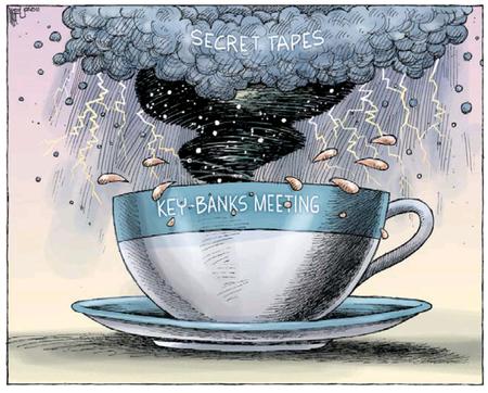 Key Banks storm in a teacup NZ Politics Daily - Bryce Edwards Otago University liberation blog - www.liberation.org.nz