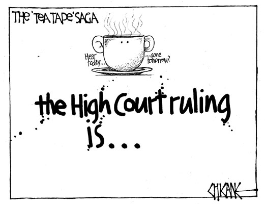 Teapot tapes NZ Politics Daily - Bryce Edwards Otago University liberation blog - www.liberation.org.nz