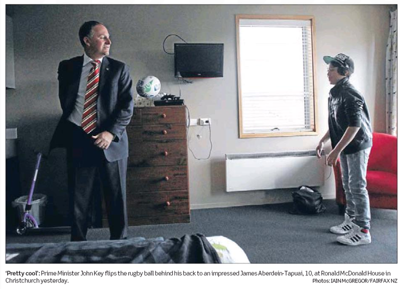 6 john key football NZ Politics Daily - Bryce Edwards Otago University liberation blog - www.liberation.org.nz