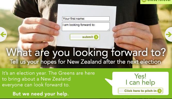 2 green party election advertising NZ Politics Daily - Bryce Edwards Otago University liberation blog - www.liberation.org.nz